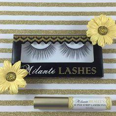 Milanté BEAUTY Exquisite False Lashes Black Natural Thick Long Full Reusable Fake eyelash and latex free glue adhesive set $35... #milantebeauty