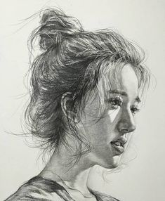 Pencil Portraits - Pin : Morgan Reidy - Discover The Secrets Of Drawing Realistic Pencil Portraits.Let Me Show You How You Too Can Draw Realistic Pencil Portraits With My Truly Step-by-Step Guide. Portrait Au Crayon, Pencil Portrait Drawing, L'art Du Portrait, Portrait Sketches, Art Drawings Sketches, Pencil Drawings, Woman Portrait, Life Drawing, Drawing Faces