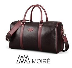 Moiré Forlenza Weekend Leather Lesuire Mens Travel Bag Fits 17' Laptop ** Trust me, this is great! Click the image. : Christmas Luggage and Travel Gear