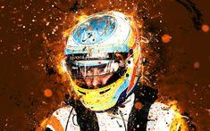 Download wallpapers 4k, Fernando Alonso, abstract art, Formula 1, F1, McLaren 2018, McLaren F1 Team, Alonso, neon lights, Formula One, McLaren Abstract Photos, Abstract Art, Mclaren F1, Sports Wallpapers, Alonso, Neon Lighting, Formula One, Most Beautiful Pictures, Photo Art