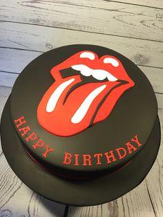 Rolling Stones Lips Cake