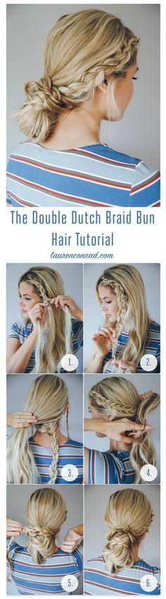 Double Dutch Braid Bun.