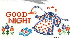 Vogart 268 Pajama Girls, Good Night, His, Hers for Pillow Cases. A 1940s hand embroidery pattern.