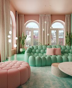 There Are Zero White Surfaces in This Incredible Apartment is part of Living room green - This colorful apartment is our kind of Technicolor dream Living Room Furniture, Home Furniture, Living Room Decor, Furniture Design, Business Furniture, Wooden Furniture, Living Walls, Country Furniture, Outdoor Furniture