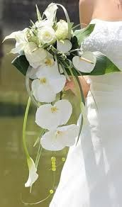 bouquets de mariée retombant avec orchidées - Recherche Google
