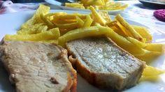 Lomo con Patata Amarilla Oro (Agria Orense) calidad excelente para frito
