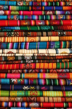 These colours are stunning (from Otavalo market, Ecuador) Ecuador Travel, Equador Quito, Guatemala, Thinking Day, Galapagos Islands, South America Travel, Belle Photo, Places To See, Travel Inspiration