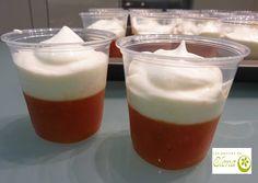 Los Postres de Elena: Vasitos de gelatina de tomate con crema de quesos