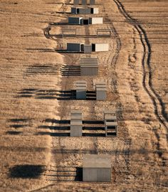 Marfa  Texas | by Donald Judd, an American artist associated with minimalism. He revolutionized practices and attitudes surrounding art making and the exhibition of art, primarily advocating for the permanent installation of works by artists in carefully selected environments.