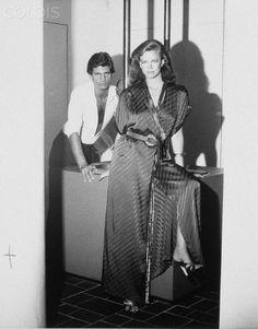 Model Lisa Taylor with Tony Spinelli  BY Bob Richardson 1976