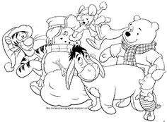 Free Coloring Pages: Winnie The Pooh Christmas Coloring Pages ...