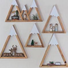 MINI Mountain Shelf Nursery Room Decor Snow Peak by DreamState