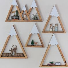MINI Mountain Shelf Nursery Room Decor Snow Peak by DreamState
