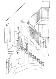stairway section drawing
