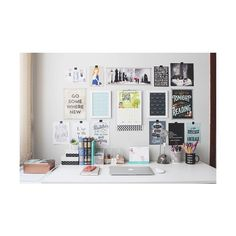 desk decoration We Heart It ❤ liked on Polyvore featuring home, home decor and office accessories
