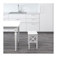 IKEA - INGOLF, Stool, Solid wood is a durable natural material.