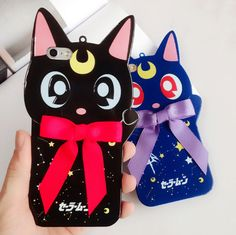 3D Luna Cat Kitty Sailor Moon Silicone Soft Case Back Cover for iPhone 6 6S Plus #UnbrandedGeneric