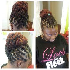 Natural Hair done Right Short Dreadlocks Styles, Short Locs Hairstyles, Dreadlock Styles, Updo Styles, Locs Styles, Loc Updo, Beautiful Dreadlocks, Dreads Girl, Hair Art