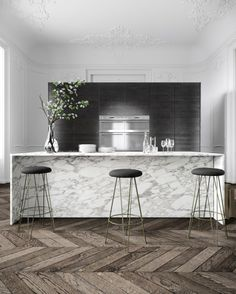 Marble. Interiors. Scandinavian Decoration
