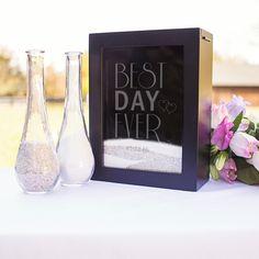 Personalized Best Day Ever Unity Sand Ceremony Shadow Box Set Unity  Ceremony 5088af3dc