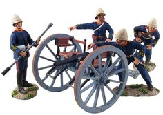 Zulu Wars - British Royal Artillery 7 Pound Gun and Crew