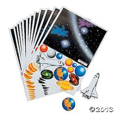 Make Your Own Solar System Sticker Scenes