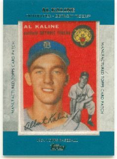 2013 Topps 1954 Baseball Patch Card of Al Kaline.  Card #MCP-7 #DetroitTigers