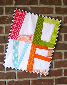 Paper Pieced LOVE letters