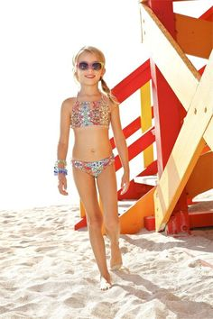 Peixoto Kids Mosaic Bikini Set The Peixoto Kids Tamarin Bikini's eccentric mosaic print will call the attention of young fashionistas everywhere. It's designer print is elaborate which makes this kids mosaic bikini set unique. The bikini's shape offers a comfortable fit for a long day of fun activities!