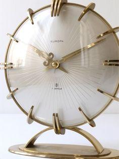 Art Deco glass clock-love this!
