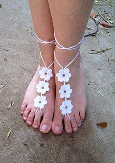 Flower Barefoot Sandals