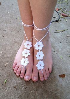 Flower Barefoot Sandals crochet pattern pattern by Aimee Nelson