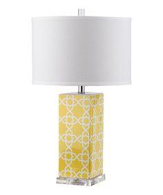 Yellow Ravi Table Lamp #zulily #zulilyfinds