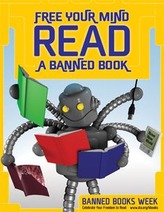 """heyboobooks: """" The American Library Association's Banned Books Week. How will you celebrate your freedom to read? """" Read a banned book. Brainstorming Activities, Classroom Activities, Book Activities, Teaching Ideas, Library Posters, Library Humor, Classroom Solutions, American Library Association, Free Mind"""