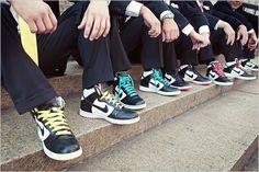 Grooms' sneakers