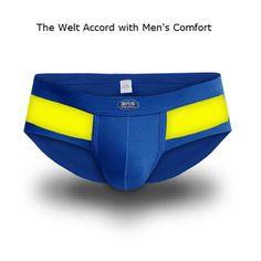 Sexy Modal Underwear Casual Sport Breathable Mid-Rise U Convex Pouch Briefs For Men