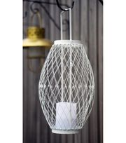 Escape To Paradise Adjustable Solar Lantern-White | Summer Home Decor | Summer Inspiration | Outdoor Decor