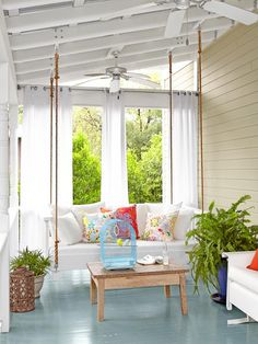 Gorgeous Sleeping Porch #HGTVMagazine >> http://www.hgtv.com/decorating-basics/creative-new-great-decorating-ideas/pictures/page-15.html?soc=pinterest