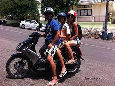 En moto al estilo asiatico