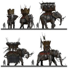 War Elephant Sketches from Assassin's Creed Origins