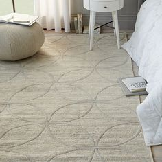 Metallic Leaf Tile Jute Rug