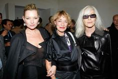 Loulou, Kate Moss et Betty Catroux 5 Octobre 2009