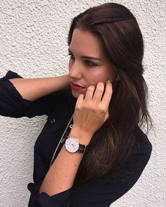 Time has a wonderful way of showing us what really matters! @evarinia in her new Baylor.  Find yours at onemaurino.com #mymaurino #timeless