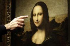 A painting attributed to Leonardo da Vinci representing Mona Lisa.   REUTERS/Denis Balibouse
