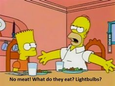 My reaction to vegetarians