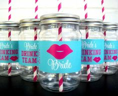 Bachelorette Party Cups Weekend Plastic Mason Jar With Vinyl Waterproof
