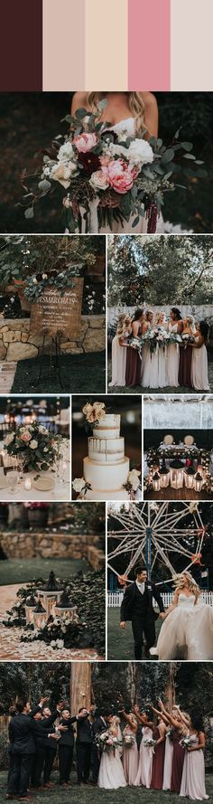 This pink color palette is a girly and dreamy addition to this elegant and rustic inspired wedding | Images by Jonnie & Garrett
