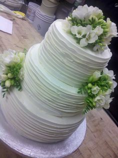 fresh flowers, buttercream wedding cake, Merci Beaucoup Weddings #reva #sugar #weddingcake #rusticwedding
