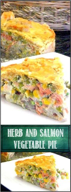 Herb and Salmon Vegetable Pie... um Cake ala Lavender and Lovage... This is INCREDIBLE, cream cheese LOADED with vegetables and SALMON, all wrapped in a cake shaped pastry shell... This is WONDERFUL and always gets RAVE REVIEWS... EVERYONE LOVES THIS!