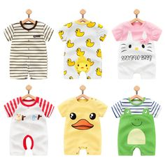 Cheap baby rompers, Buy Quality baby romper boy directly from China boys jumpsuit Suppliers: 2017 Summer Cartoon Baby Rompers boy Jumpsuits Short Sleeve Clothes Roupas De Infantil Girl Clothing Newborn Boy Clothes, Newborn Outfits, Baby Girl Newborn, Baby Boy Outfits, Kids Outfits, Baby Boy Romper, Baby Rompers, Baby Bodysuit, Summer Cartoon